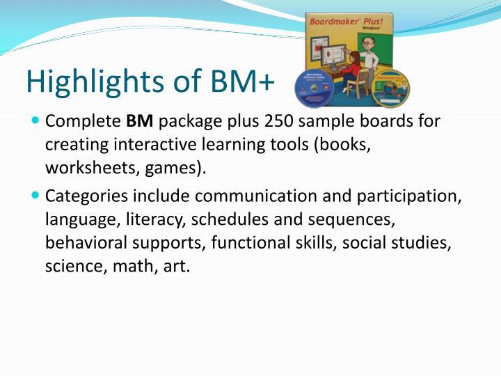 Highlights of BM+