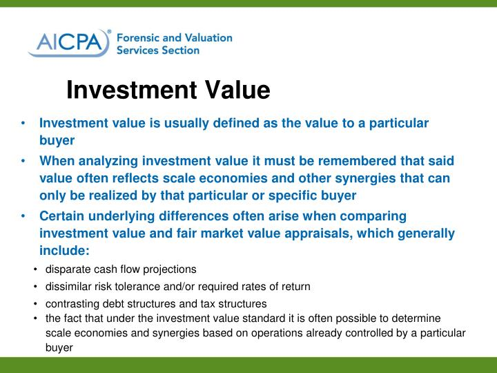Investment Value