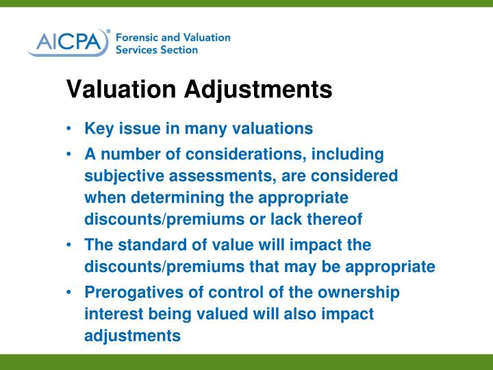Valuation Adjustments