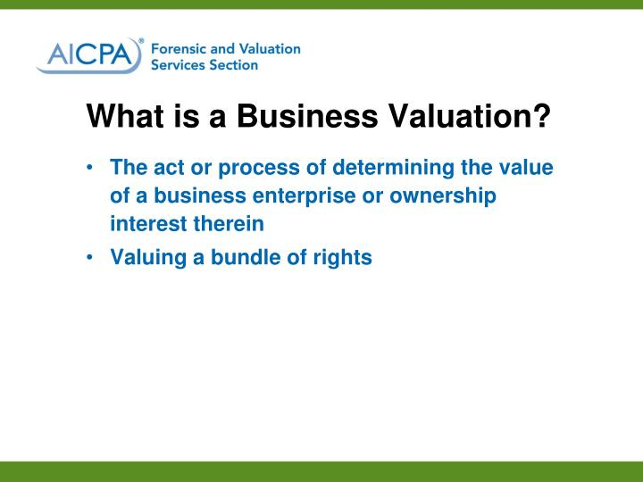 What is a Business Valuation?