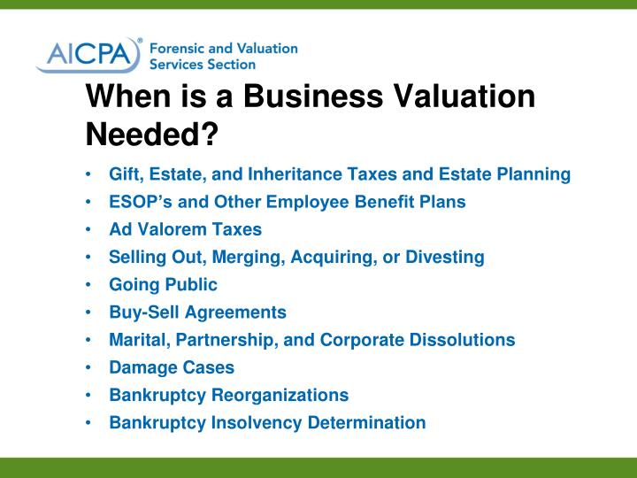 When is a Business Valuation Needed?