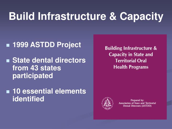 Build Infrastructure & Capacity