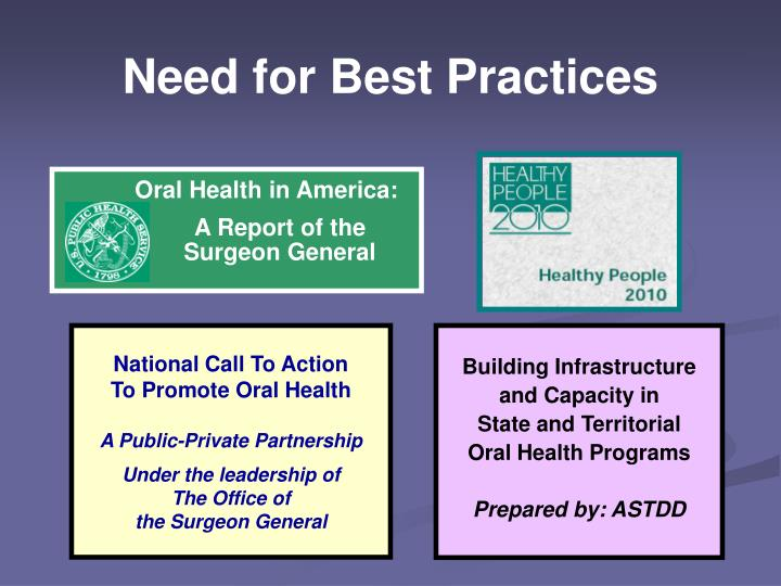 Need for Best Practices