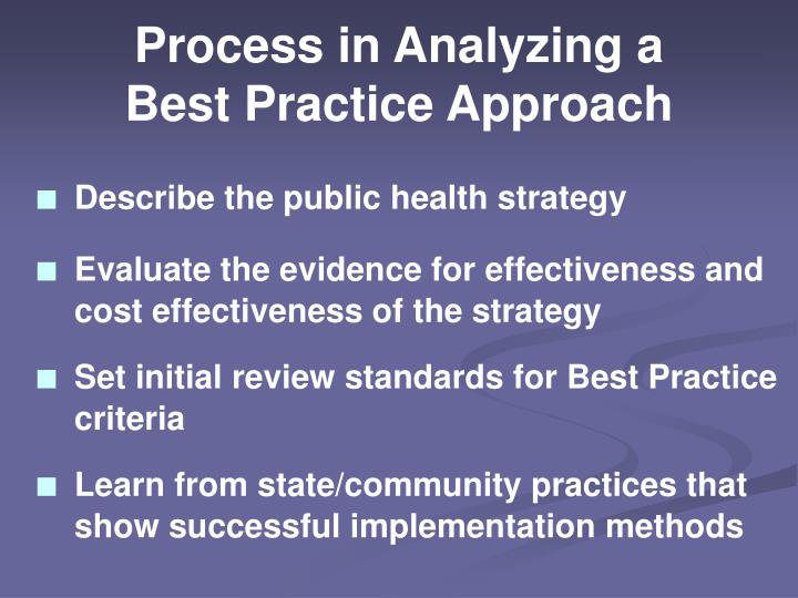 Process in Analyzing a