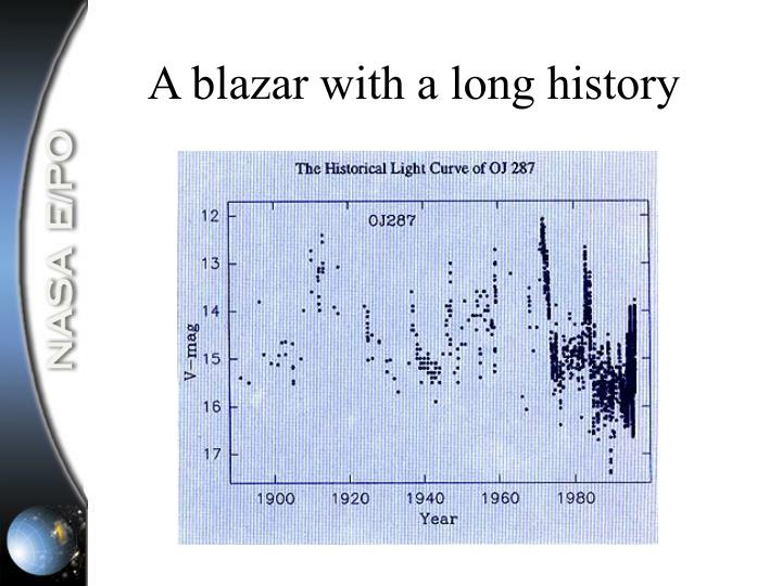 A blazar with a long history
