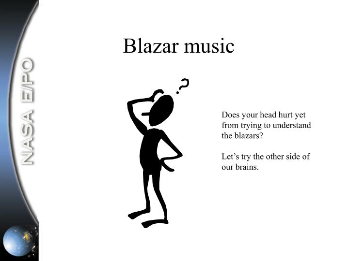 Blazar music