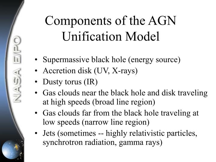 Components of the AGN Unification Model
