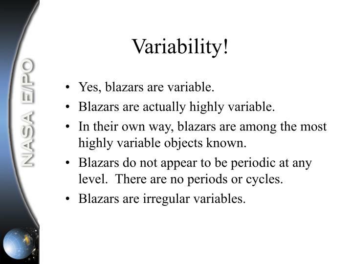 Variability!