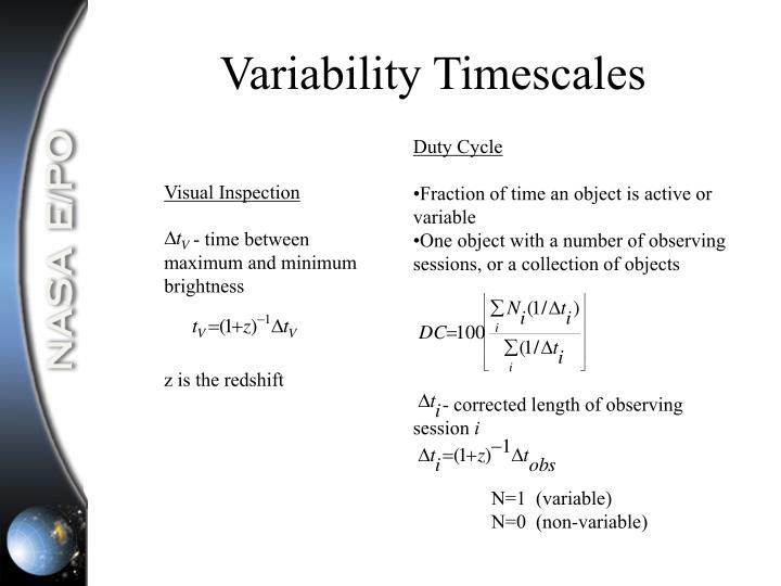 Variability Timescales