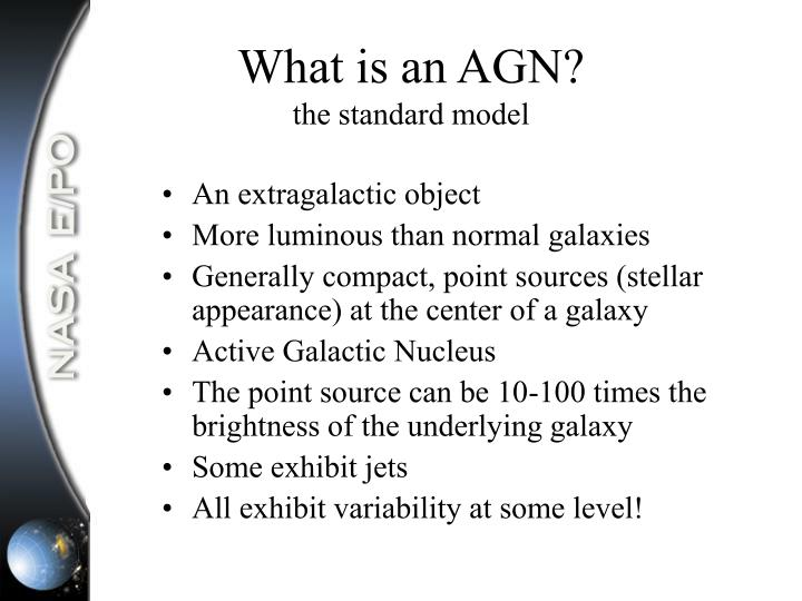 What is an AGN?