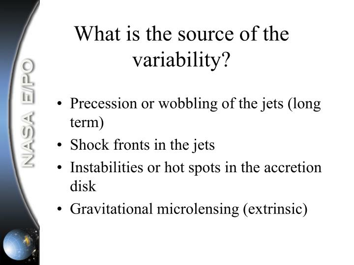 What is the source of the variability?