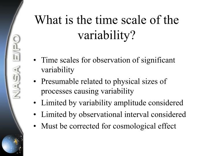 What is the time scale of the variability?