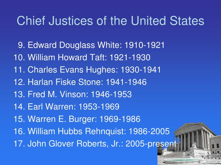 Chief Justices of the United States