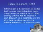 essay questions set 3