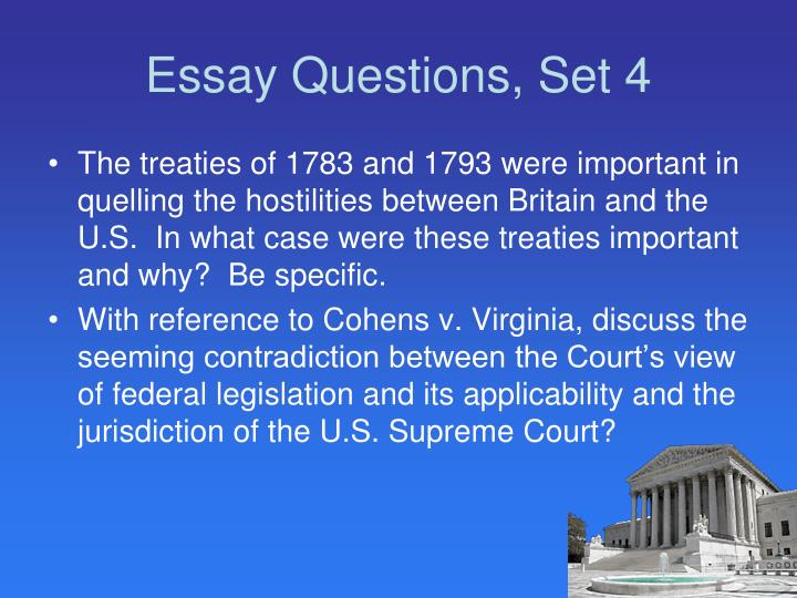 Essay Questions, Set 4