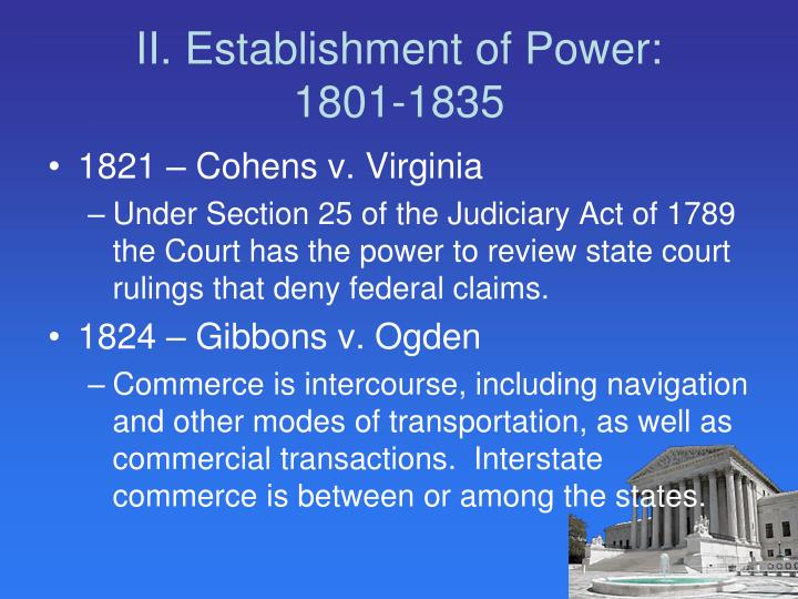 II. Establishment of Power: