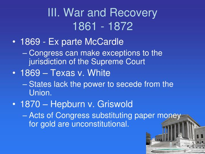 III. War and Recovery