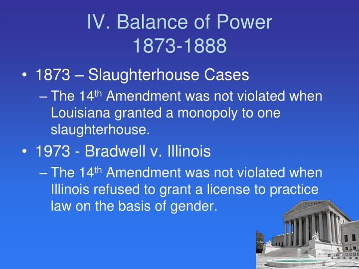 IV. Balance of Power
