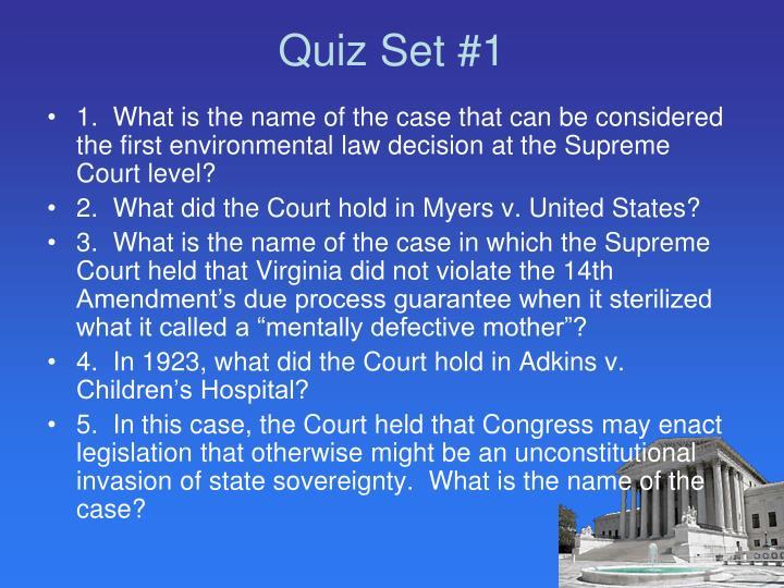 Quiz Set #1