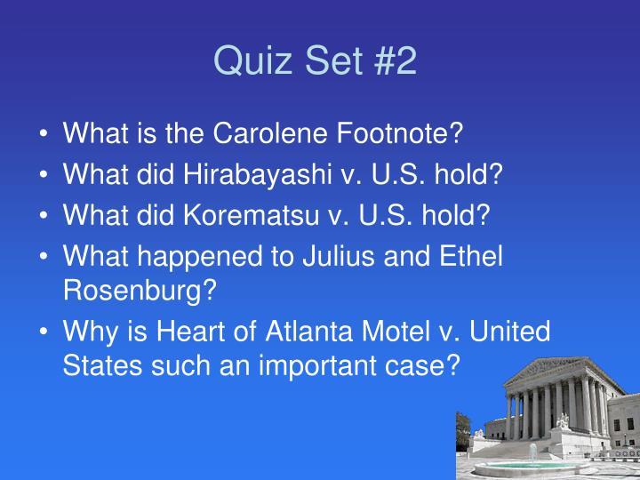 Quiz Set #2