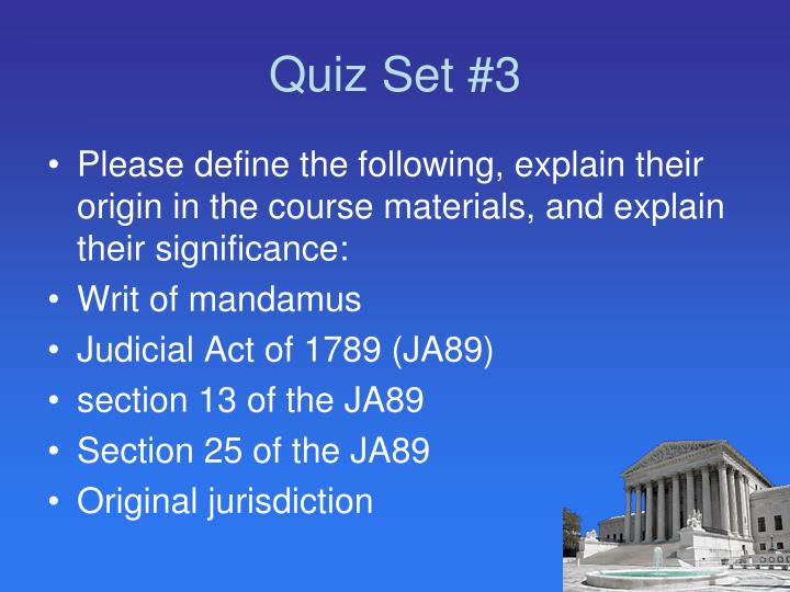 Quiz Set #3