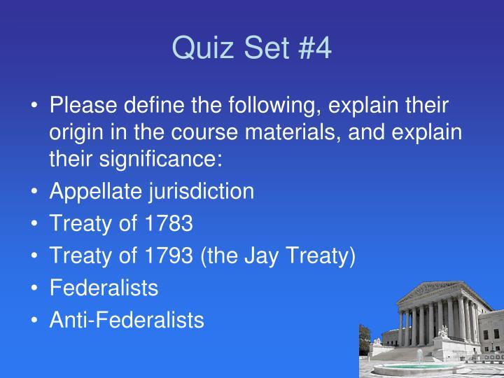 Quiz Set #4