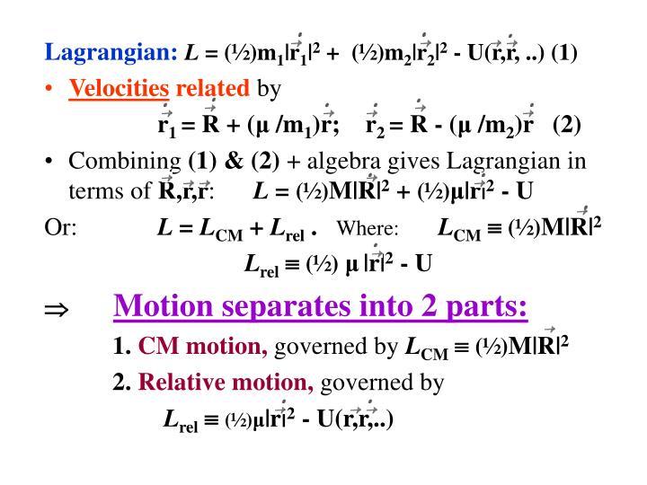 Lagrangian: