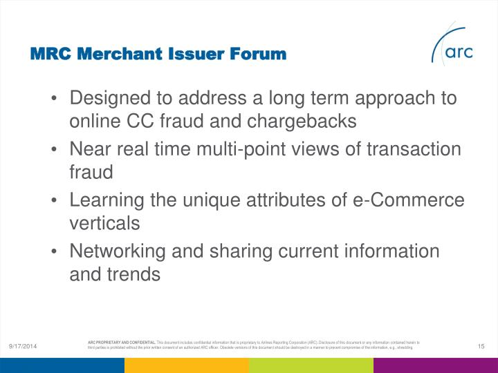 MRC Merchant Issuer Forum