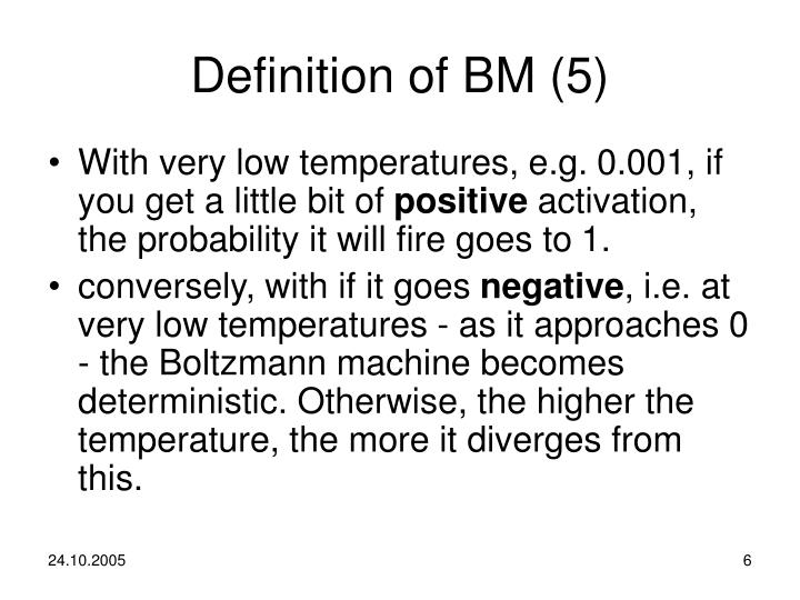 Definition of BM (5)