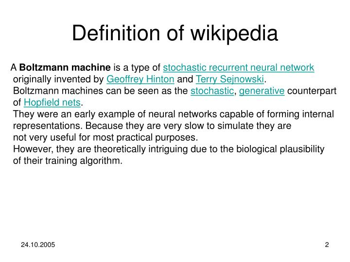 Definition of wikipedia