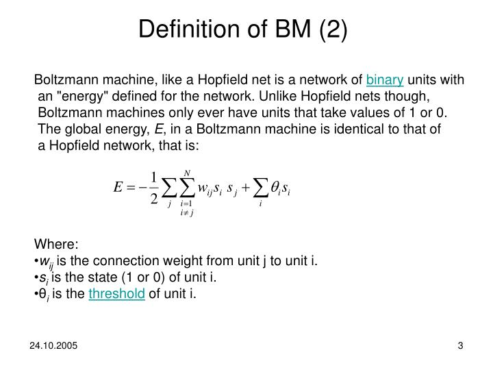 Definition of BM (2)