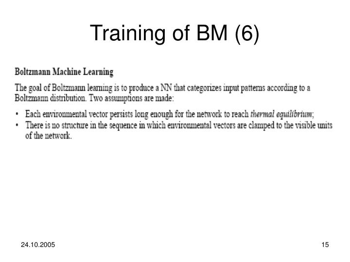 Training of BM (6)