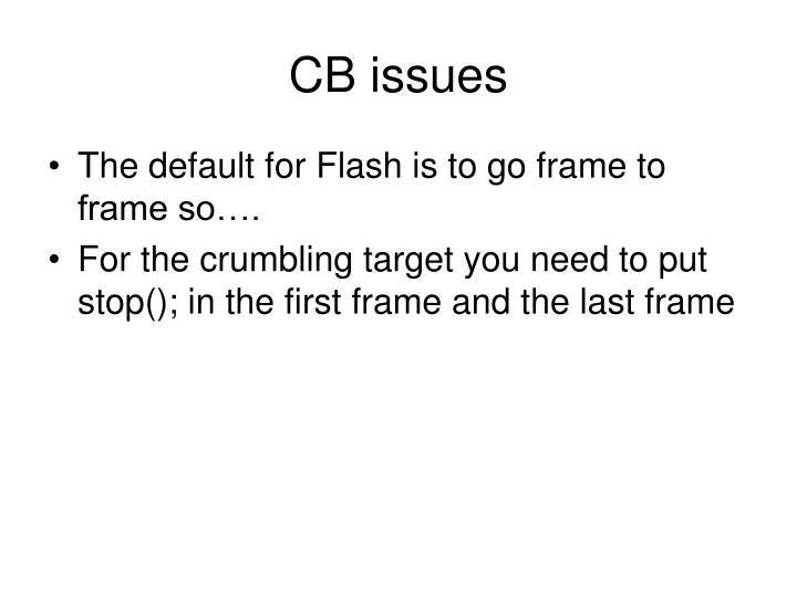 CB issues