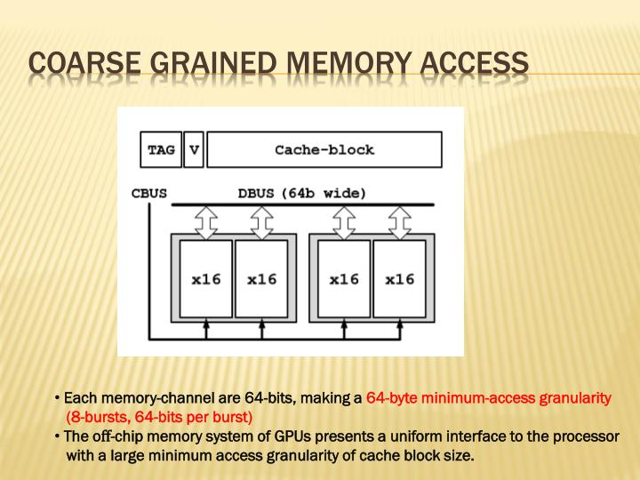 COARSE GRAINED MEMORY ACCESS