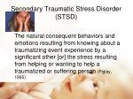 secondary traumatic stress disorder stsd