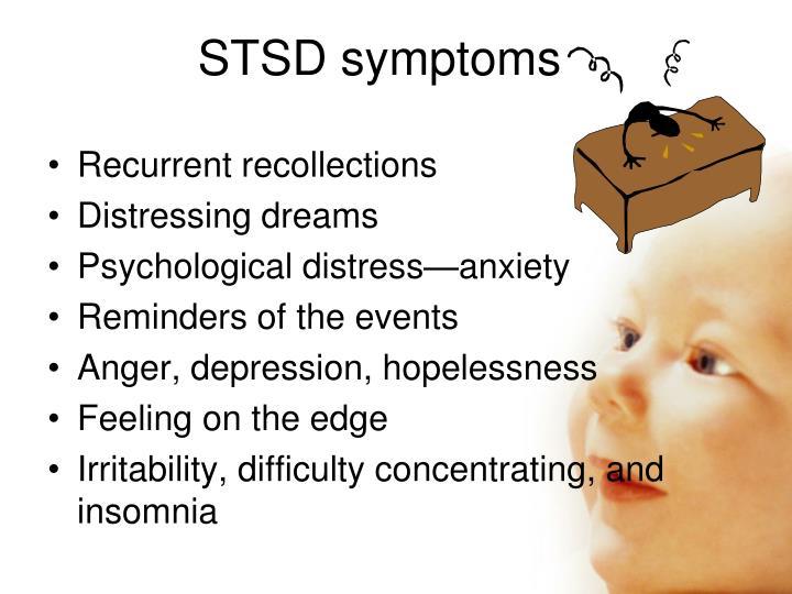 STSD symptoms