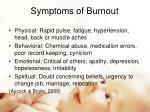 symptoms of burnout