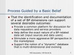 process guided by a basic belief