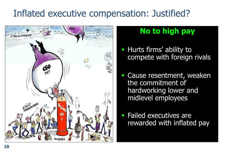 Inflated executive compensation: Justified?
