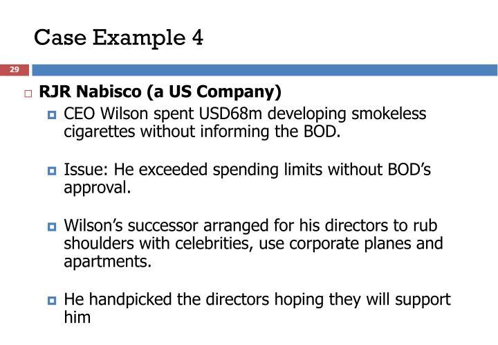 RJR Nabisco (a US Company)