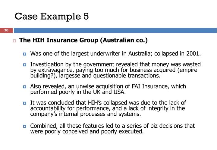 The HIH Insurance Group (Australian co.)