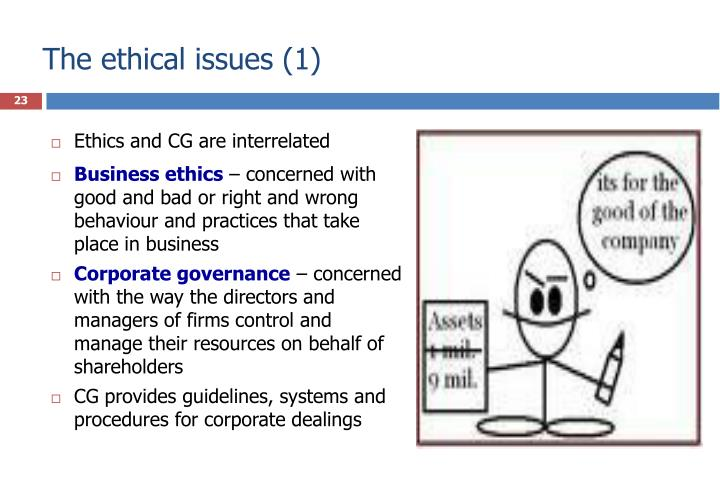 The ethical issues (1)