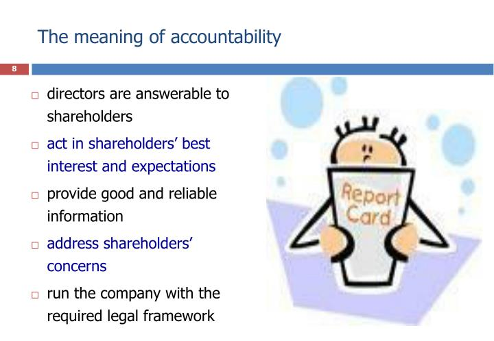 The meaning of accountability