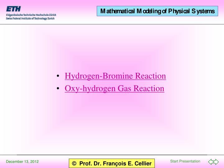 Hydrogen-Bromine Reaction