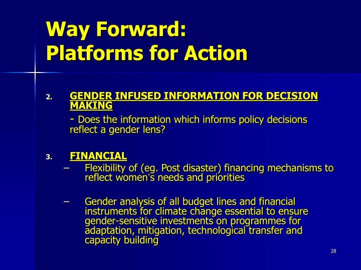 Way Forward:
