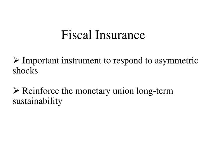 Fiscal Insurance