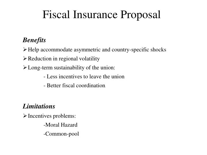 Fiscal Insurance Proposal