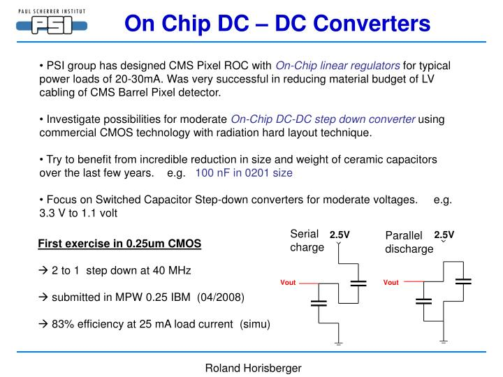 On Chip DC – DC Converters