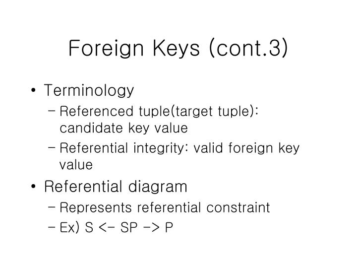 Foreign Keys (cont.3)