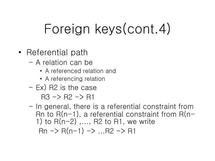 Foreign keys(cont.4)